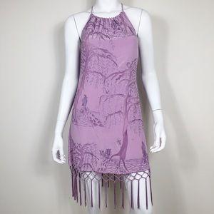 E1-13: Tracy Reese sequin fringe sleeveless dress